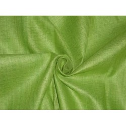 "PARROT GREEN COLOUR LIGHT MATKA SILK FABRIC 44""-HANDLOOM WOVEN"