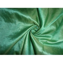 tassar spun feel silk fabric green x yellow -handloom woven 44""
