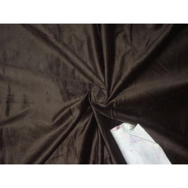 "100% COTTON VELVET WITH LYCRA FABRIC 44""~COFFEE BROWN"