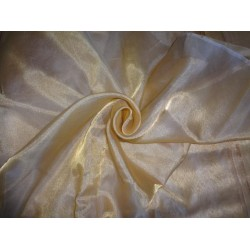 "SHEER GOLD TISSUE SILK ORGANZA 44"" wide"