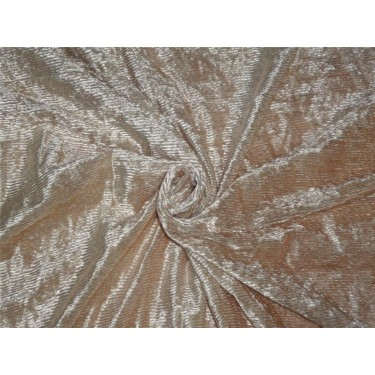 DEVORE POLYESTER VISCOSE BURNOUT NUDE STRIPES VELVET FABRIC *