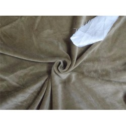 "HEAVY WEIGHT 100% COTTON VELVET FABRIC 54""~ DARK CAMEL X GREEN EFFECT"