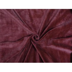 "HEAVY WEIGHT 100% COTTON VELVET FABRIC 54""~ RUSTY RED"