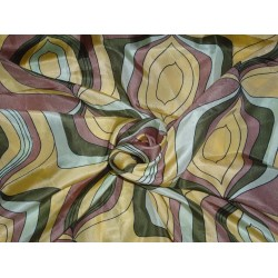 "RICH PRINTED DESIGN HABOTAI SILK FABRIC 44""INCHES"