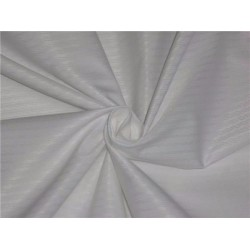 WHITE COTTON ORGANDY FABRIC DOBBY DESIGN*