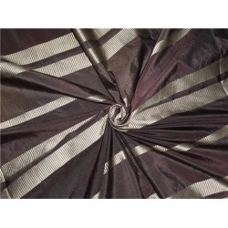 Brown Colour taffeta with satin stripes