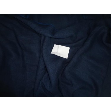 100 % NAVY BLUE PURE LINEN FABRIC 54""
