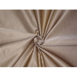 "100% SILK TAFFETA FABRIC PIN STRIPE - CREAMY GREEN-60"" wide sold by the yard"