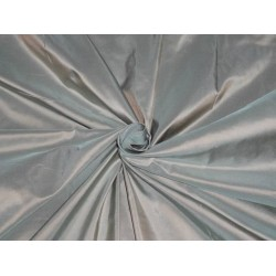 100% PURE SILK TAFFETA FABRIC RICH PALE GREEN WITH LIGHT GOLD SHOT