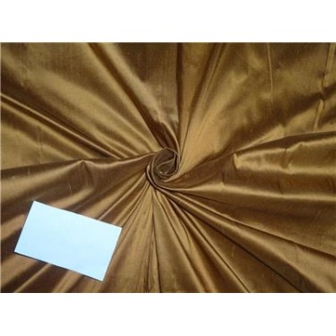 100% silk dupion copper x brown