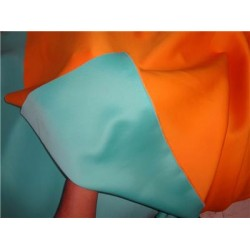 "Reversable scuba fabric,air layer sandwich fabric 58""mango/turquoise"