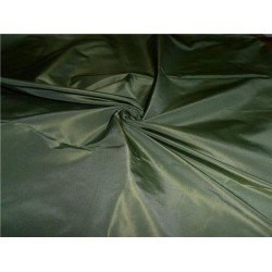 100% PURE SILK TAFFETA FABRIC PALE DUSTY GREEN