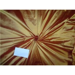 Pure SILK Dupioni FABRIC Gold x Red = Sunset color 54""