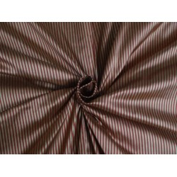 100 % SILK TAFFETA GOLD X RED STRIPE 54 INCHES