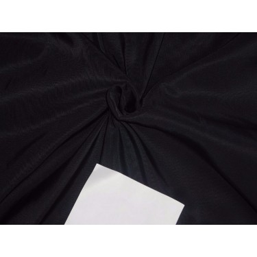 100% PURE SILK TAFFETA FABRIC AUBERGINE X BLACK