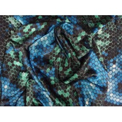 "japanese satin printed fabric 44""~snake print"