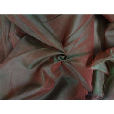 "iridescent silk organza salmon x green 118"" inches wide by the yard"