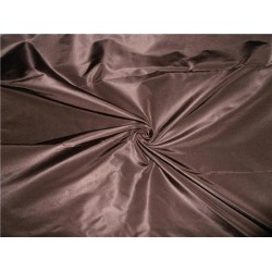 100% PURE SILK TAFFETA FABRIC BROWN X PEACH