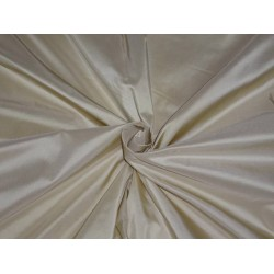 100% PURE SILK TAFFETA FABRIC CREAM WITH GOLD SHOT