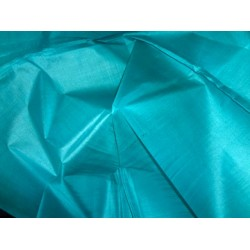 TUSSAR / TASSAR SPUN FEEL SILK FABRIC BLUEISH GREEN HANDLOOM WOVEN 44""