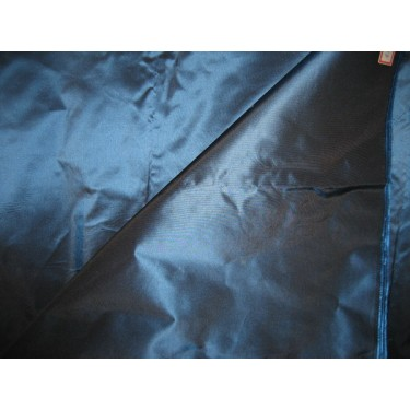 100% PURE SILK TAFFETA FABRIC DEEP BLUE 54""