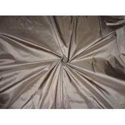 100% PURE SILK TAFFETA FABRIC DUSTY BROWN