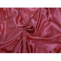 "100% PURE SILK SATIN FABRIC 44"" CORAL COLOR 118 GRAMS"