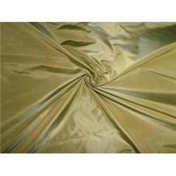100% PURE SILK TAFFETA FABRIC DUSTY LIME
