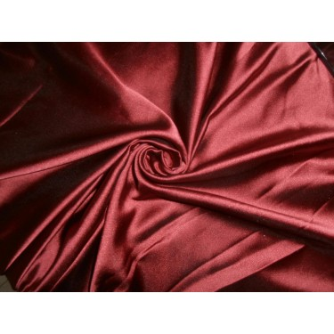 "53 momme polyester dutchess satin 54"" wide- maroon x black"