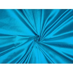 PURE SILK DUPIONI FABRIC TURQUOISE BLUE