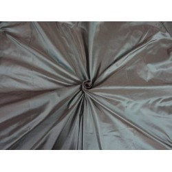 100% PURE SILK TAFFETA FABRIC IRIDESCENT EYE GREEN X BEIGE