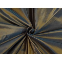 100% pure silk taffeta fabric iridescent tigers eye x blue TAF57