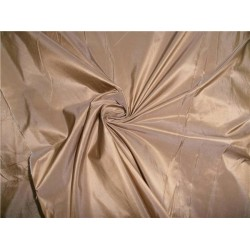 100% PURE SILK TAFFETA FABRIC LIGHT GOLD