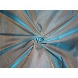 "SILK ORGANZA IRIDESCENT SEA GREEN X BEIGE 118"" INCHES WIDE by the yard"