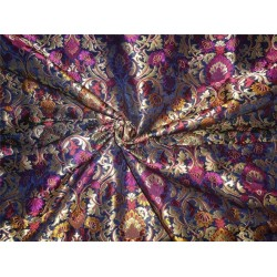 "100%SILK georgette heavily embroidered 44"" B2#89[6]"