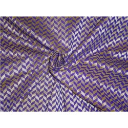 "spun  brocade 44""purple & metallic gold"