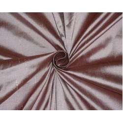 PURE SILK DUPIONI FABRIC ROSE PINK X BLACK SHOT