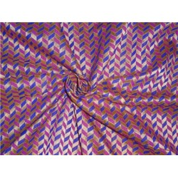 "Brocade 44""pink royal blue and metallic gold bro537[3] BY THE YARD"