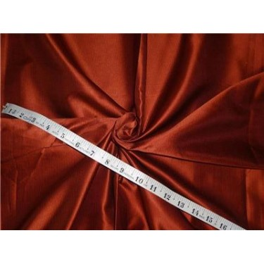 100% SILK TAFFETA FABRIC PIN STRIPE 54''- RUST