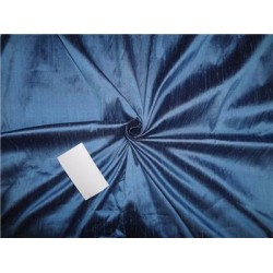 "100% pure silk dupioni fabric cool blue x black 54"" with slubs"