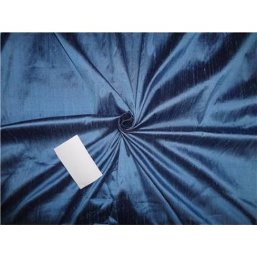 "100% pure silk dupioni fabric cool blue x black 54"" with slubs  MM76[1]"