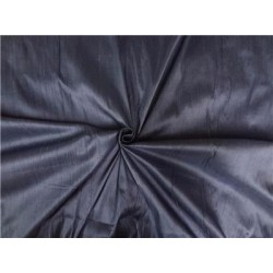 100% PURE SILK DUPIONI FABRIC cloudy blue x black 54""