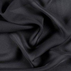 "SILK DOUBLE GEORGETTE FABRIC 44"" WIDE~BLACK COLOR"
