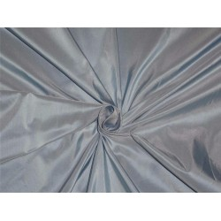 "TAFFETA SILK FABRIC BABY BLUE X IVORY  54"" WIDE*"