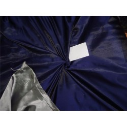 "55% SILK,45% VISCOSE DUTCHESS SATIN NAVY BLUE X GREY COLOR 54"",37 mm"