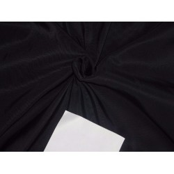 "50 mm heavy weight JET BLACK  SILK TAFFETA  fabric 54"" wide*"