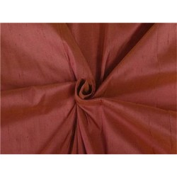 100% PURE SILK DUPIONI FABRIC RUST 54""