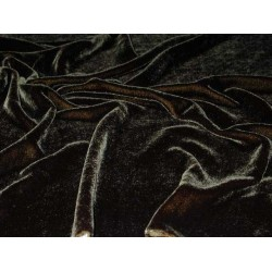 "100% Pure silk velvet fabric 44:""~black"