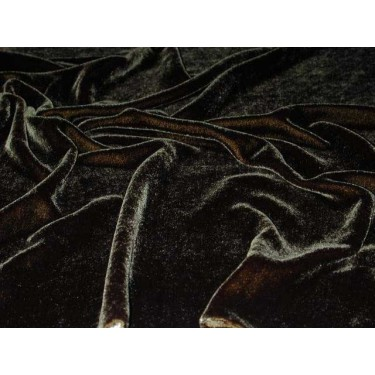 """silk velvet fabric 44:""""wide ~black sold by the yard"""