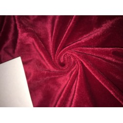 high quality velvet fabric- BLOOD RED #magnum# -Width of the fabric is 142 Cm ( 56 inches ) .